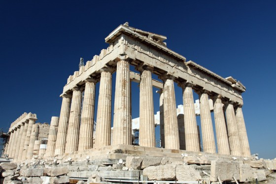 Parthenon of the Acropolis in Athens