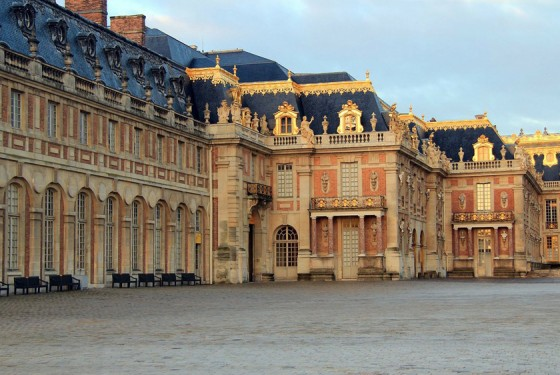 View from the park to the Palace of Versailles