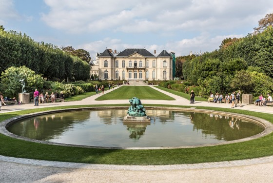 Musee Rodin: garden and sculptures by the sculptor Auguste Rodin