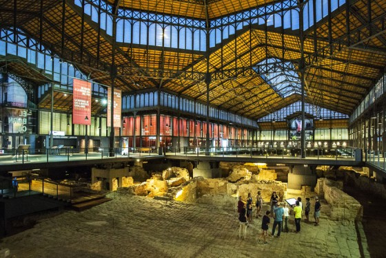 Site in the fromer market hall and now El Born Centre Cultural in Barcelona