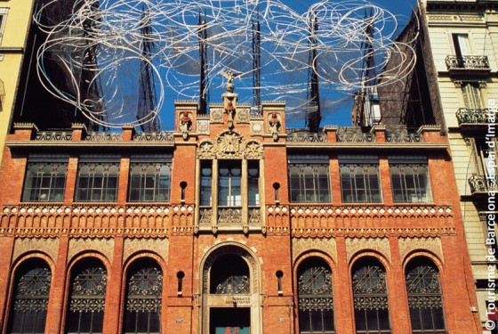 Outside view of the art museum Fundacio Antoni Tapies in Barcelona