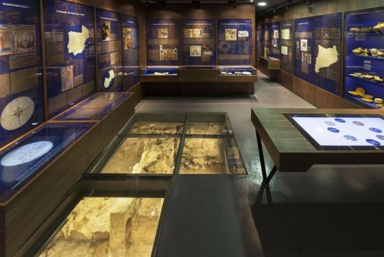Exhibition room historical Museo d'Historia de Barcelona MUHBA