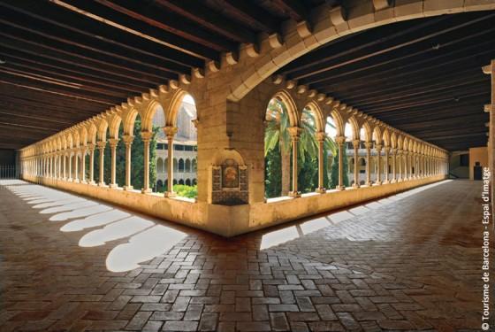 Cloister of the Reial Monestir de Santa Maria de Pedralbes in Barcelona
