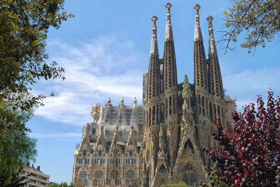 Sagrada Familia under construction for more than 130 years