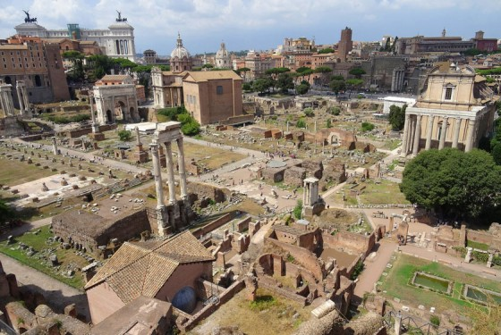 Forum Romanum from the bird perspective