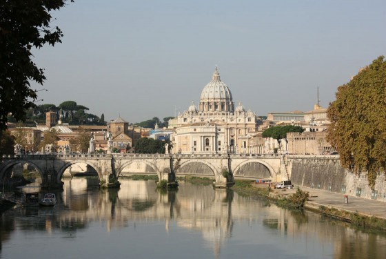 The St. Peter's Basilica in Vatican City in Rome