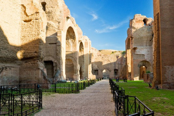 Terme di Caracalla in Rome with informations and paths for tourists