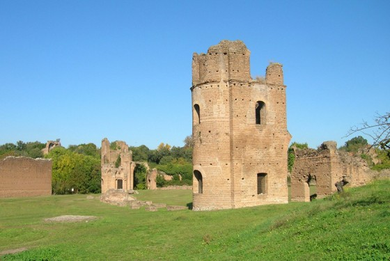 Ruins of the Villa di Massenzio in Rome