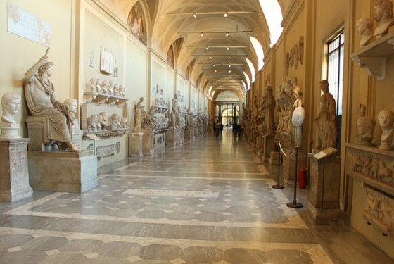 Museo Chiaramonti exhibition with historic and valuable