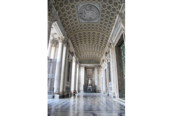 Pinacoteca vaticana corridor in Rome as an artwork with ancient ornaments