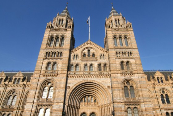 Natural History Museum London entrance to the largest natural history collection in the world