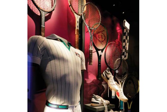 Objects at the Wimbledon Tennis Museum in London