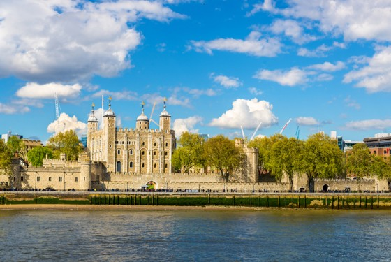View of the Tower of London across the River Thames