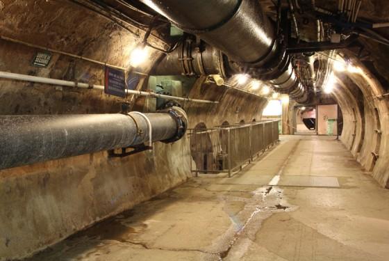 Tunnel in the Musee des Egouts de Paris in paris