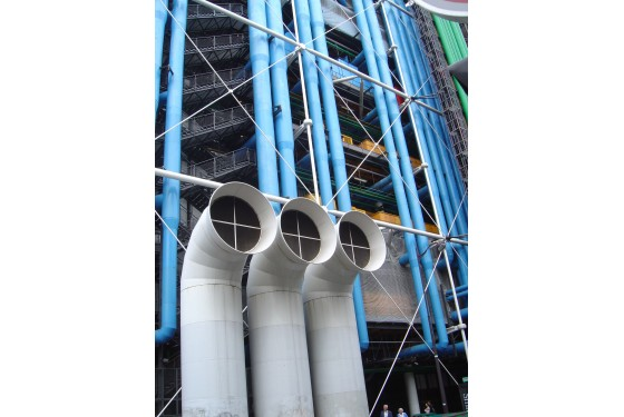 part of the external facade of the Centre Pompidou in Paris