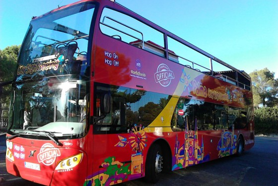 The red bus from City Sightseeing Palma