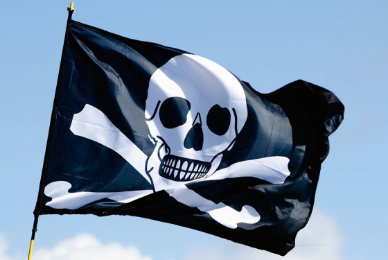 Pirate flag of the Jolly Roger Pirate boat
