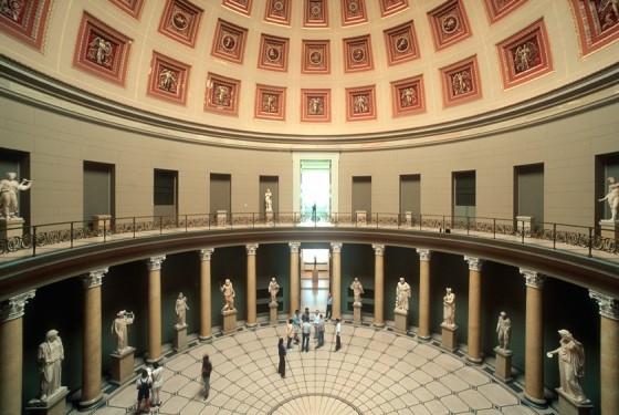 Interior of the old museum in Berlin