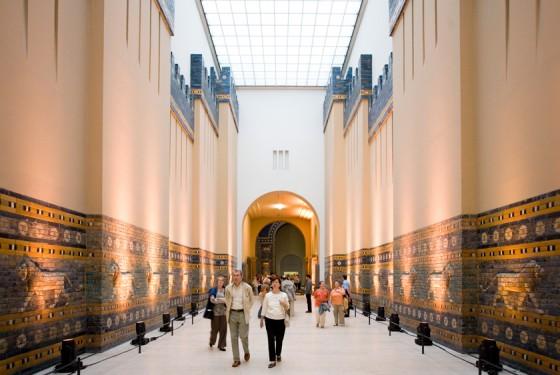 Imposing passage in the Pergamonmuseum in Berlin