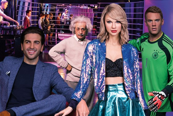 Celebrities out of wax in Madame Tussauds in Berlin