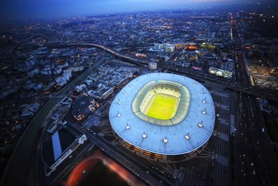 Stade de France football stadium from above