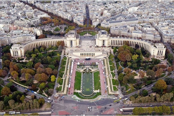 View from above on the Musee des Monumentes francais
