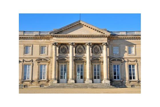 Exterior view of the Musee et domaine Nationaux du Palais imperial de Compiegne in Paris