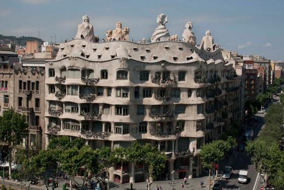The unique Casa Mila La Pedrera of Gaudi in Barcelona