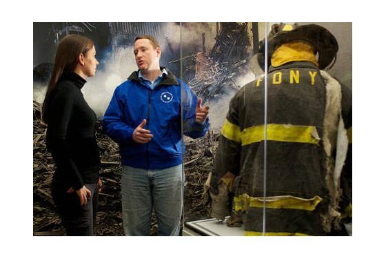 Exhibited-fireman-uniform-in-911-tribute-center