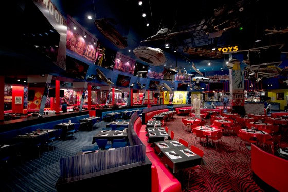 Planet Hollywood Restaurant inside view