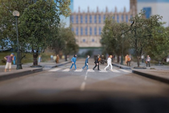 The Beatles as miniature at Gulliver's Gate in New York
