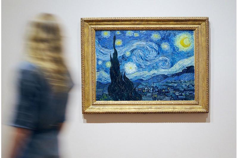 Die aussenansicht des moma das gemälde das gemälde the museum of modern arts